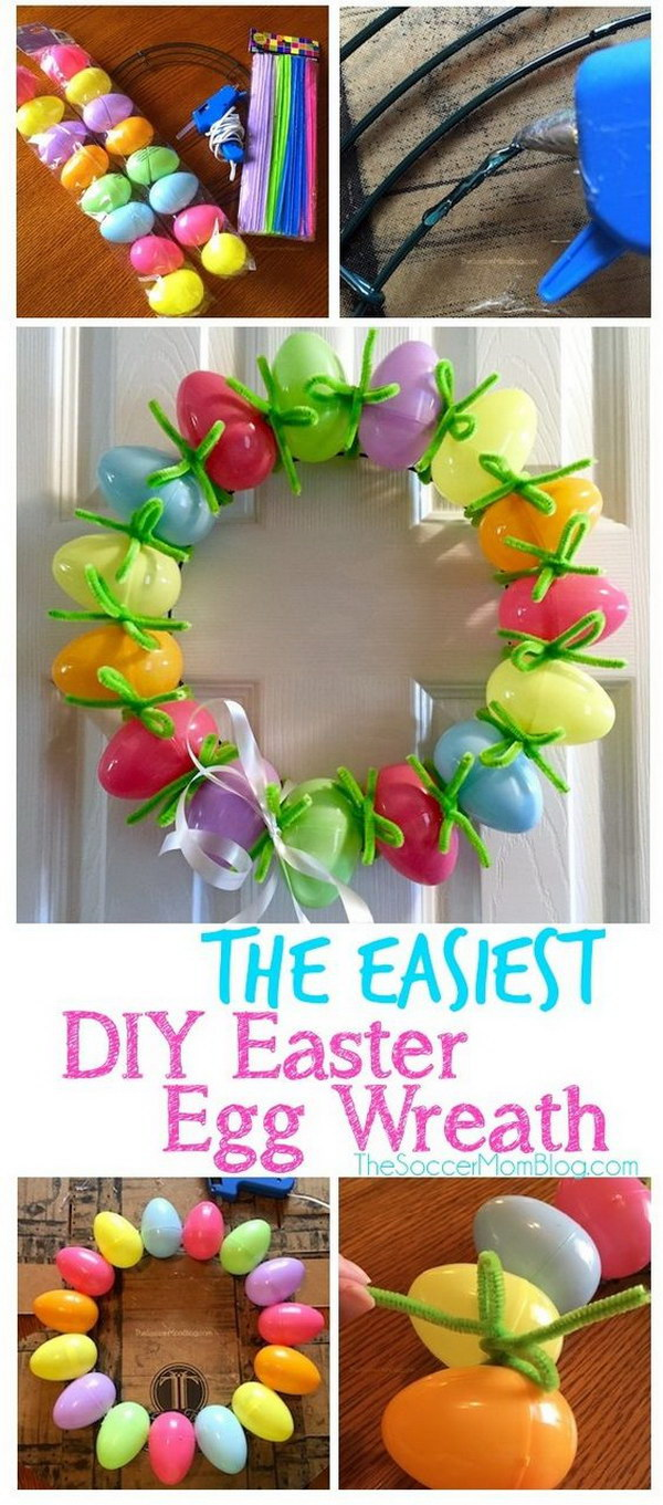 DIY Easter Egg Wreath.