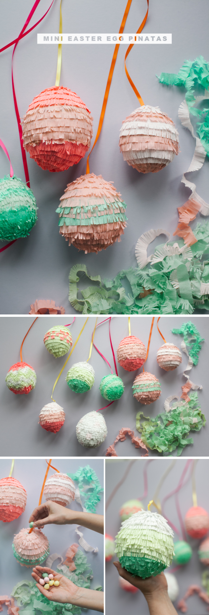 DIY Easter Egg Pinatas.