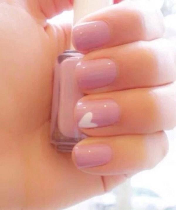 Cute Pink Love Simple Nail Designs