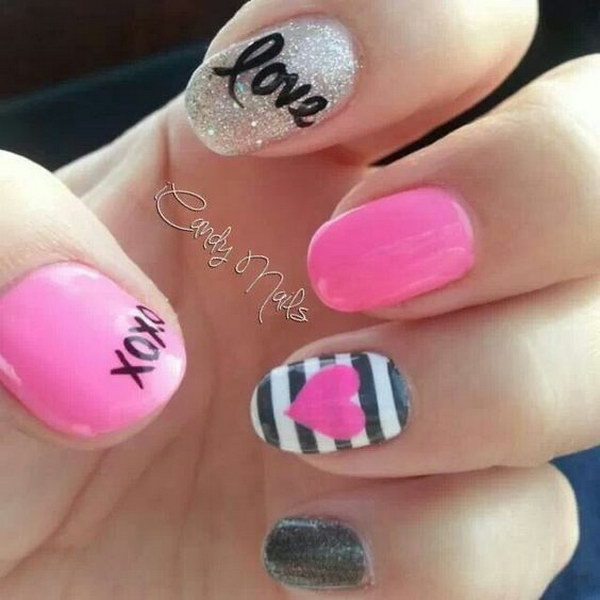 Beautiful Valentine's Day Nails
