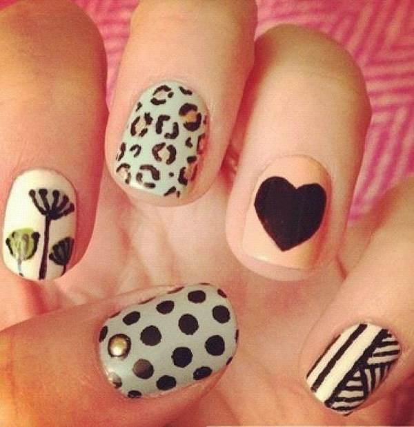 Pretty Mix & Match Nails