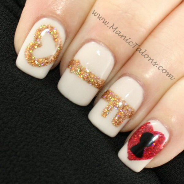Key to My Heart Nail Art Design