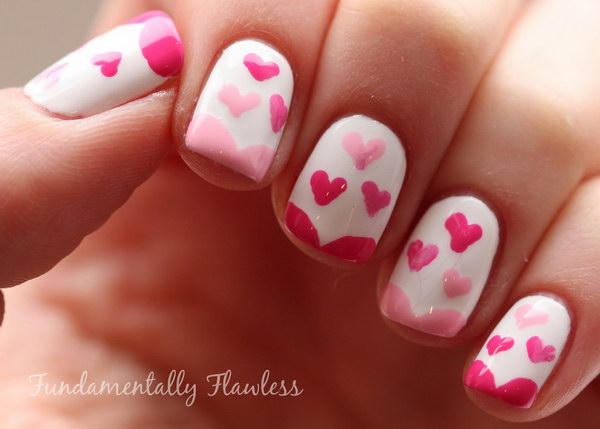 Simple Valentine's Day Heart Nail Design