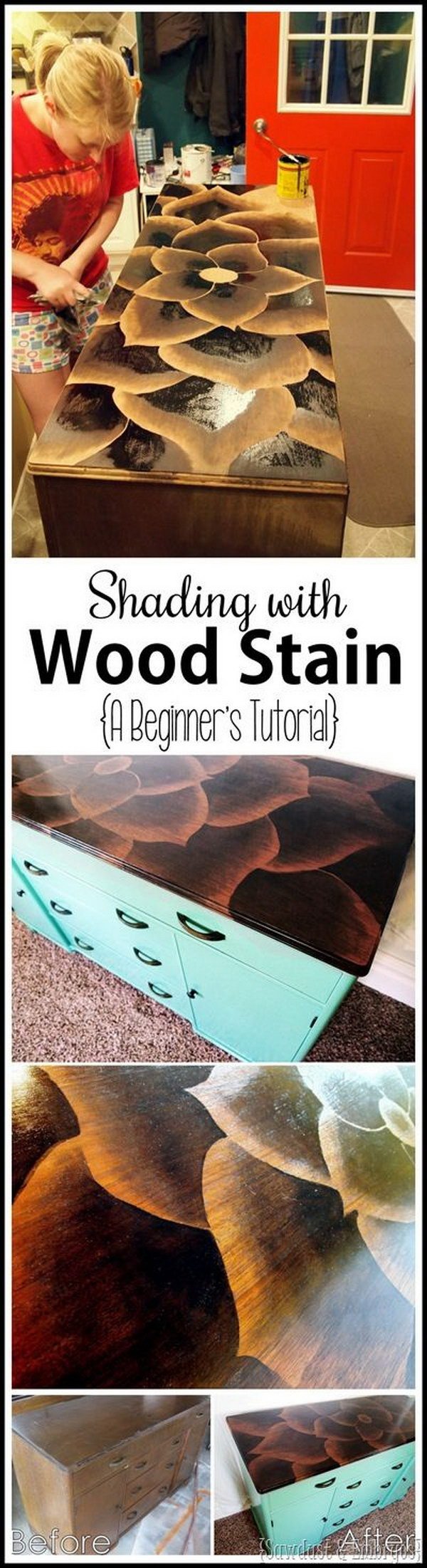 Using Stain To Make Artwork on Furniture.