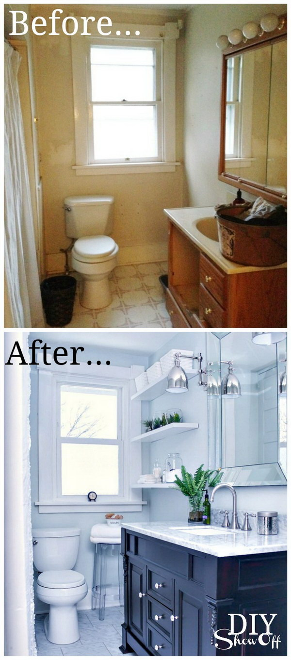 before and after makeovers 20 most beautiful bathroom On bathroom makeover ideas