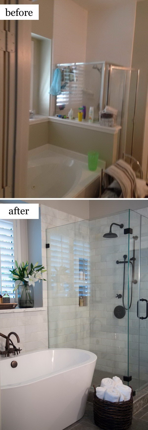 Before and after makeovers 20 most beautiful bathroom for Remodeling bathroom ideas older homes