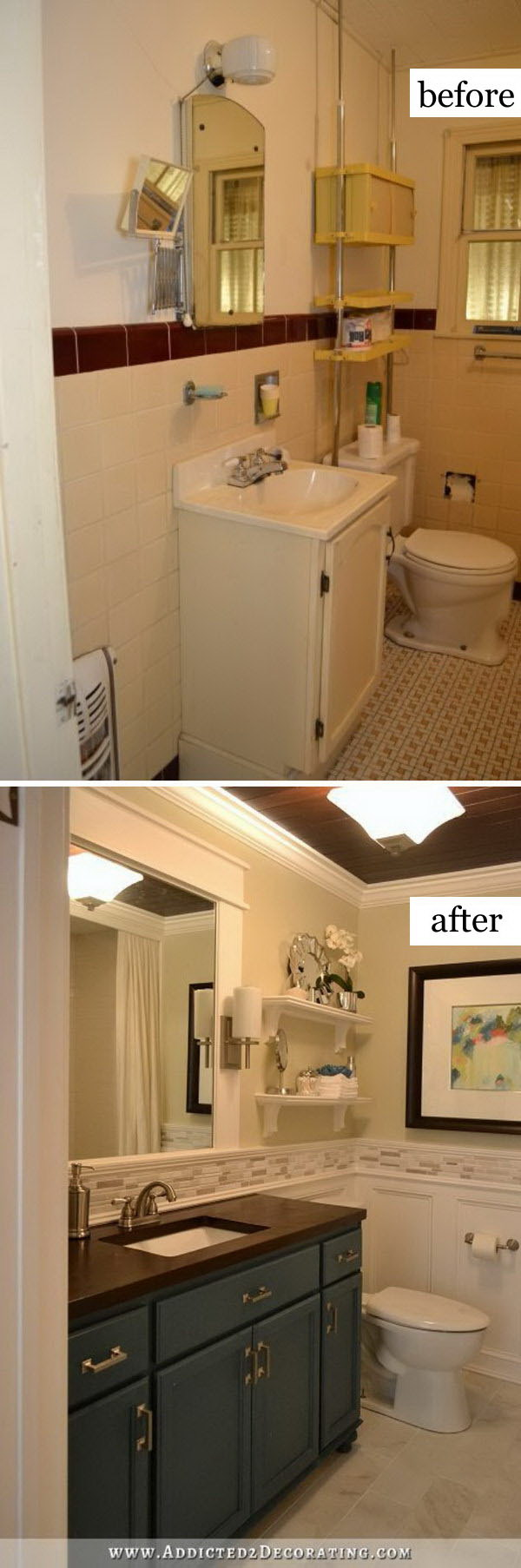 Hallway Bathroom Remodel: Before & After .