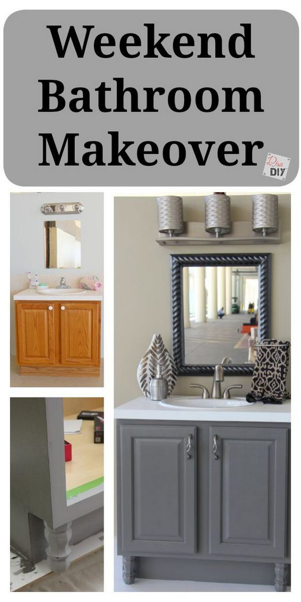 Before and after makeovers 20 most beautiful bathroom remodeling ideas noted list for Inexpensive bathroom vanity ideas