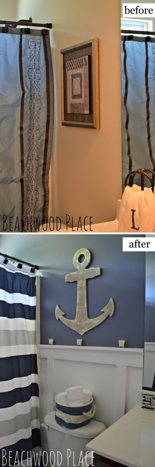 Nautical Bathroom Makeover.