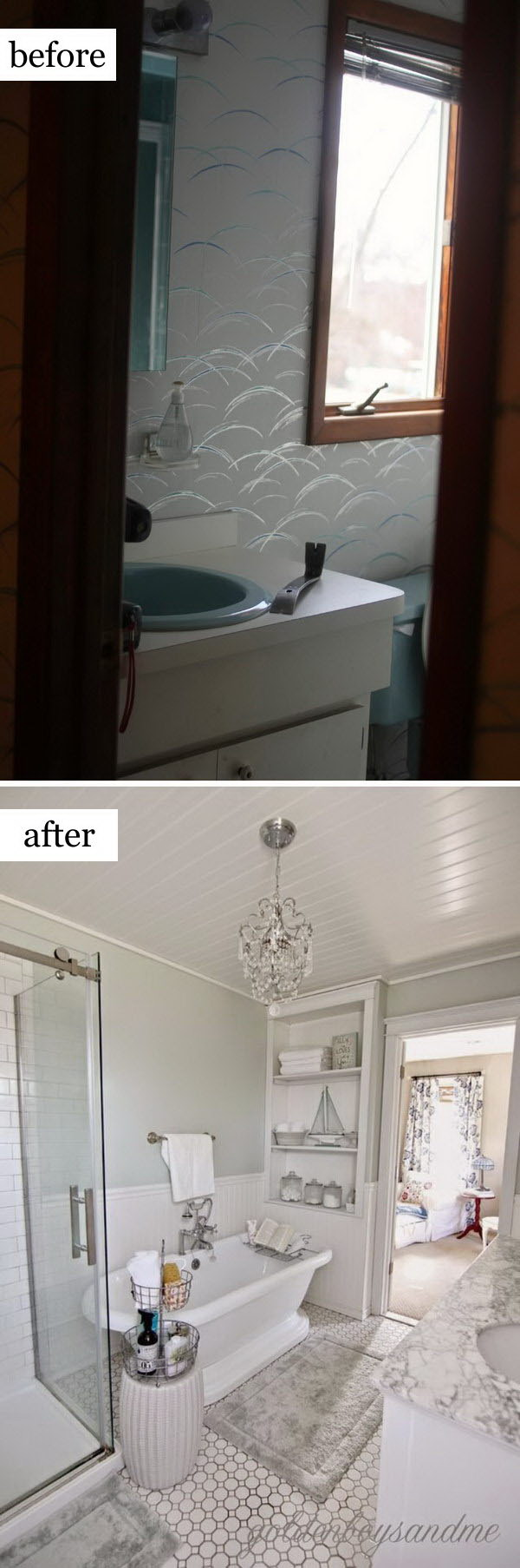 before and after makeovers 20 most beautiful bathroom remodeling ideas noted list. Black Bedroom Furniture Sets. Home Design Ideas
