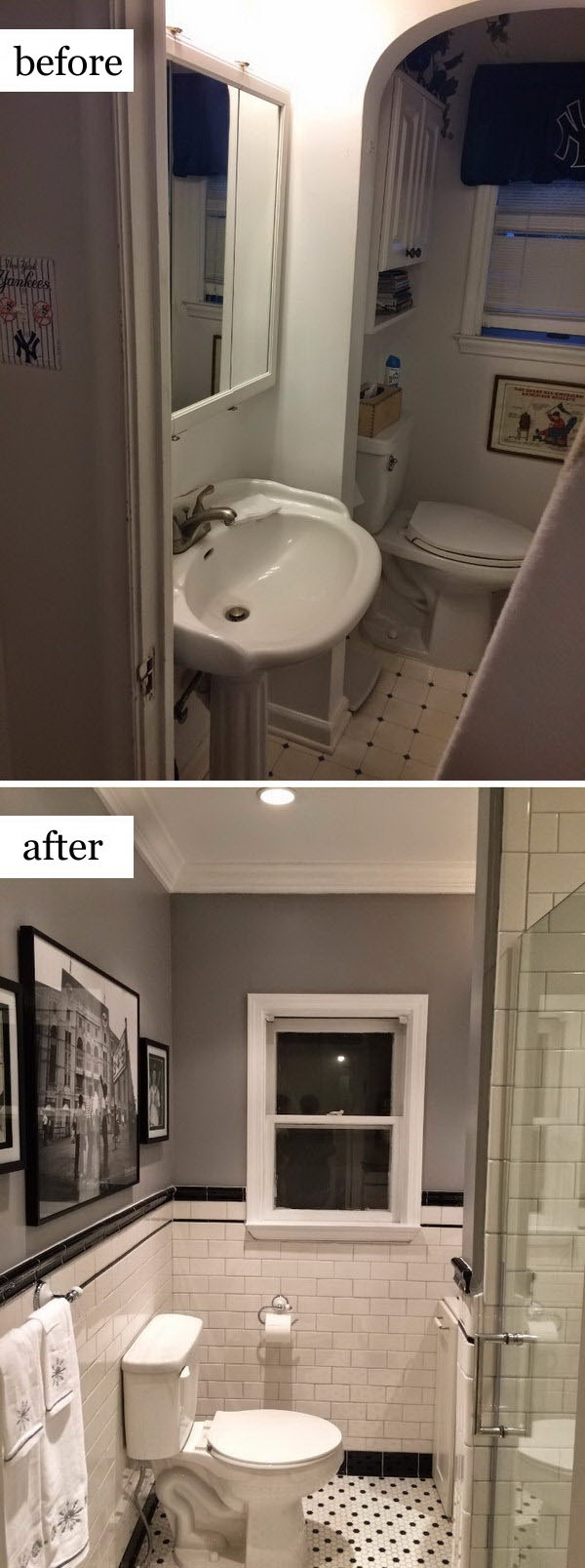 Before and after makeovers 20 most beautiful bathroom for Bathroom ideas 1920 s