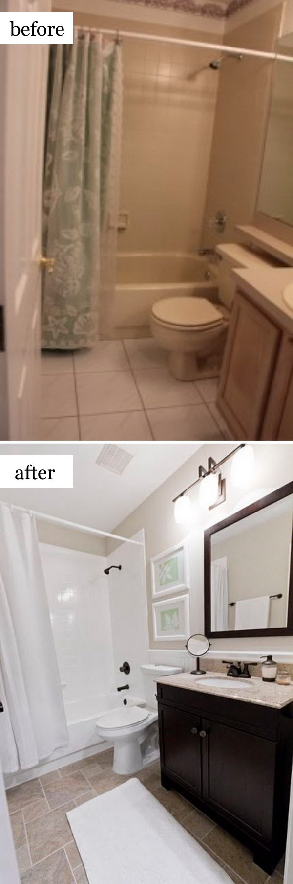 Before and after makeovers 20 most beautiful bathroom - Small bathroom remodel with tub ...