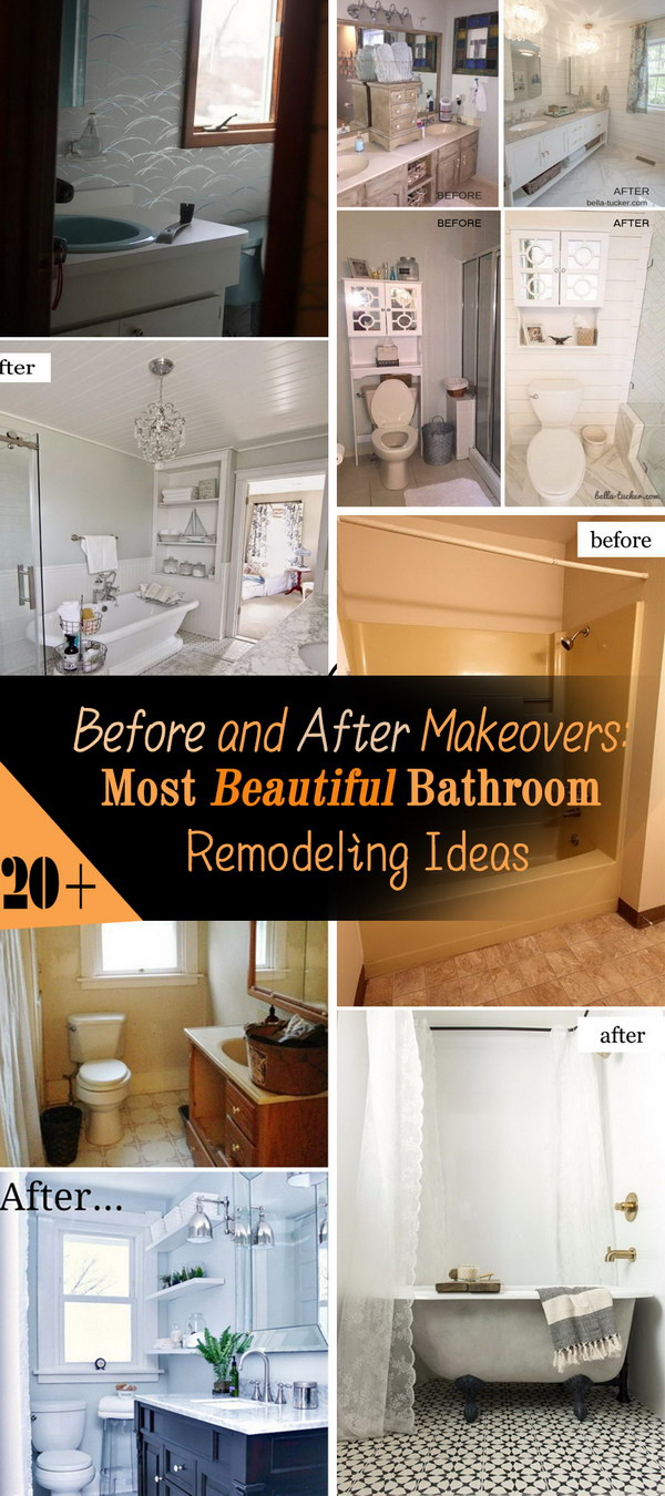 Before And After Makeovers: 20+ Most Beautiful Bathroom Remodeling