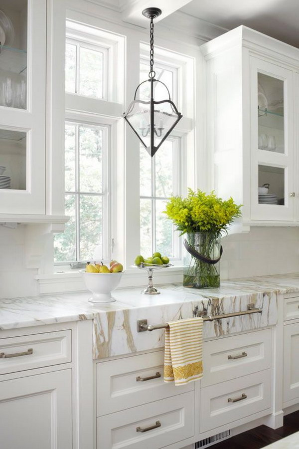 Calacatta Gold Marble Countertops.