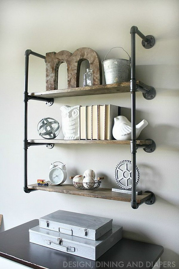 Industrial Piping Shelves.