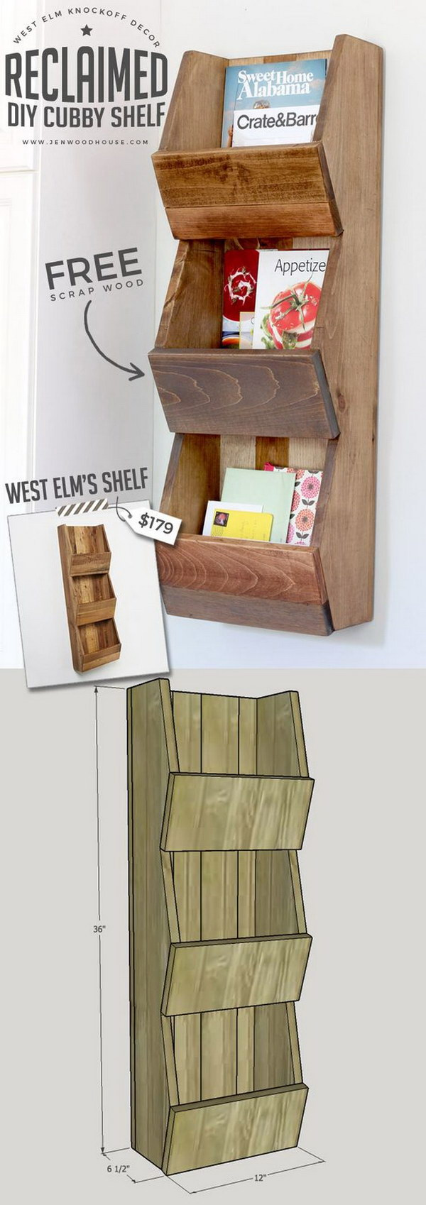 20 stylish diy shelves with lots of tutorials noted list for West to best items ideas