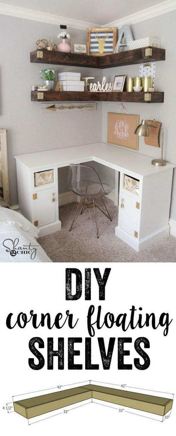 20 stylish diy shelves with lots of tutorials noted list for Easy diy shelves
