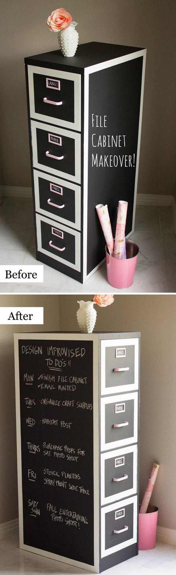 File Cabinet Makeover.