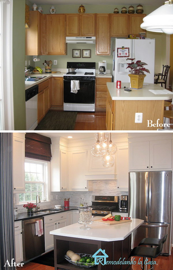 Fantastic Kitchen Makeover: Same Cabinets with Creative Fixes.