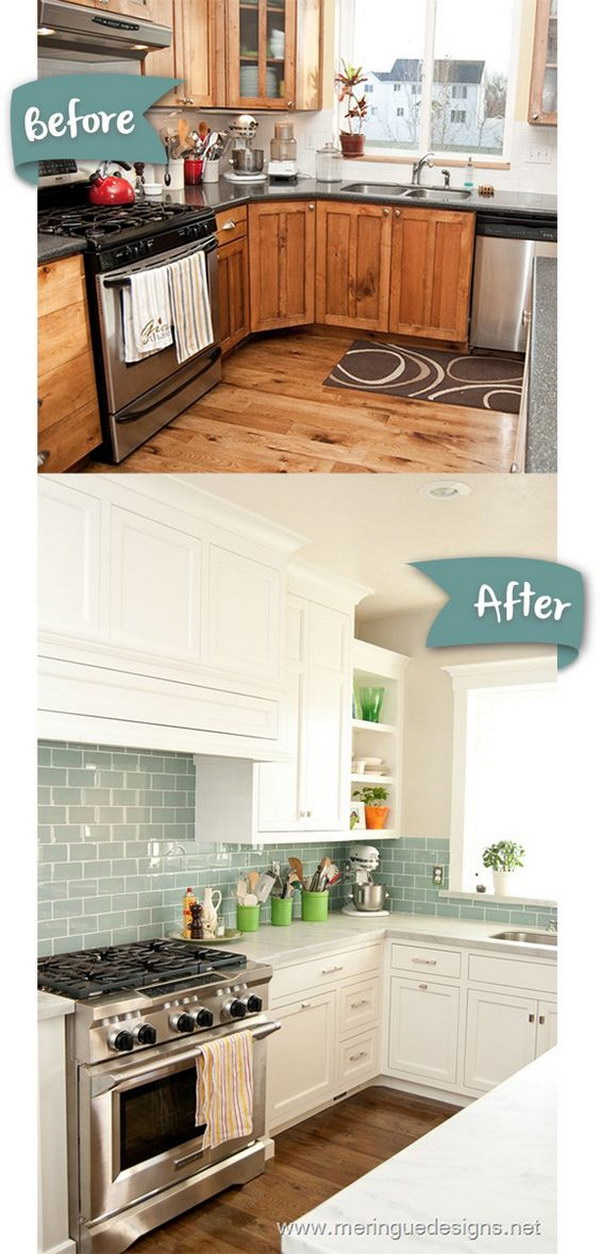 Classic White Kitchen Makeovers.
