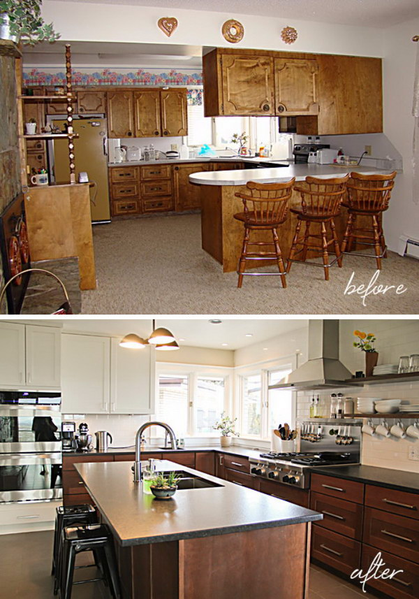 Kitchen Before & After: A Budget friendly Choice.