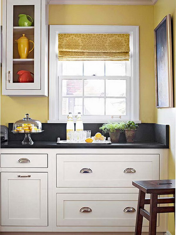 80 cool kitchen cabinet paint color ideas noted list for Dark orange kitchen