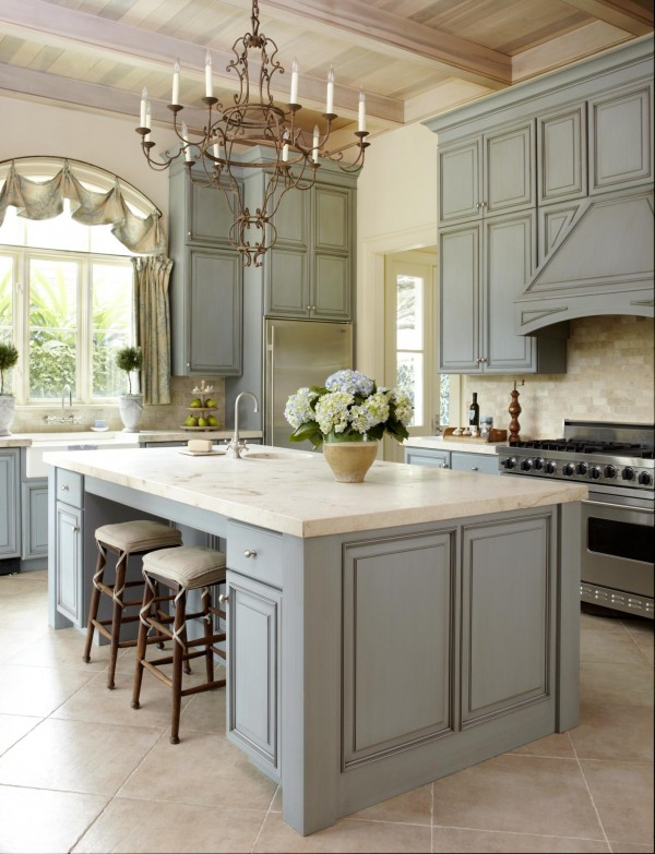 Dusty Gray Inspired Kitchen Cabinets.