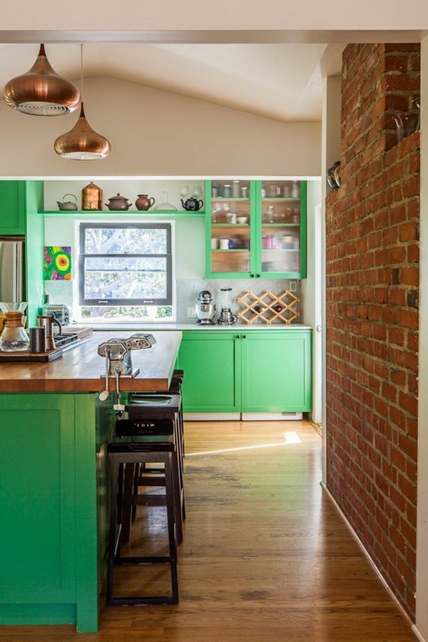 Kelly Green Kitchen Cabinets.