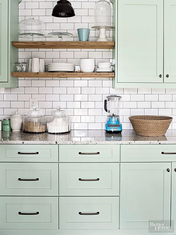 80 cool kitchen cabinet paint color ideas noted list Kitchen cabinets light green