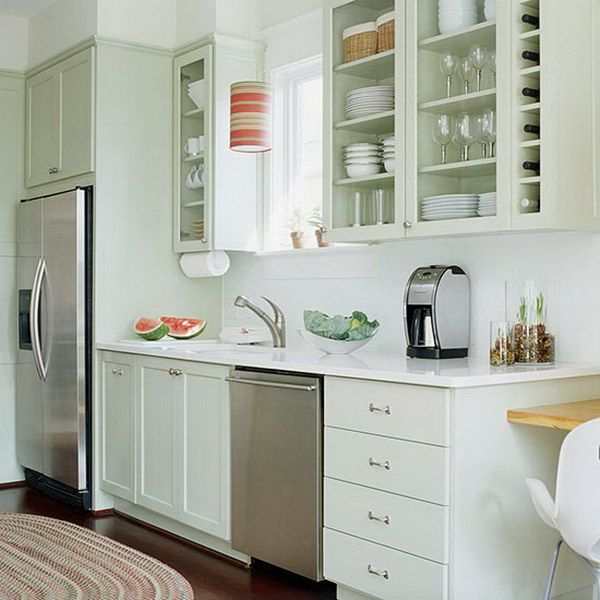 Green Kitchen Cabinets Images: 80+ Cool Kitchen Cabinet Paint Color Ideas
