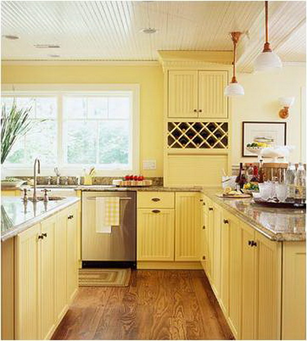 Kitchen Design Yellow Walls: 80+ Cool Kitchen Cabinet Paint Color Ideas