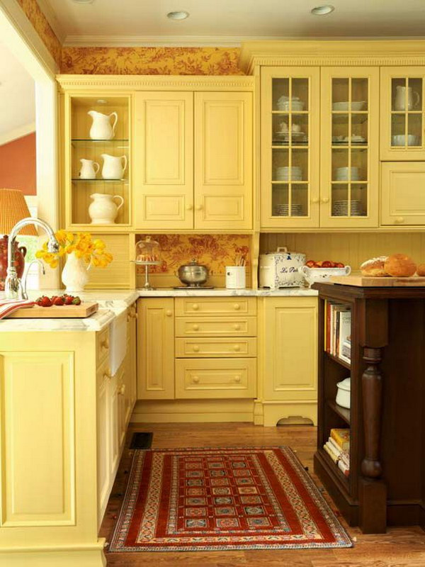 80 cool kitchen cabinet paint color ideas noted list for Kitchen colors with white cabinets with designer metal wall art