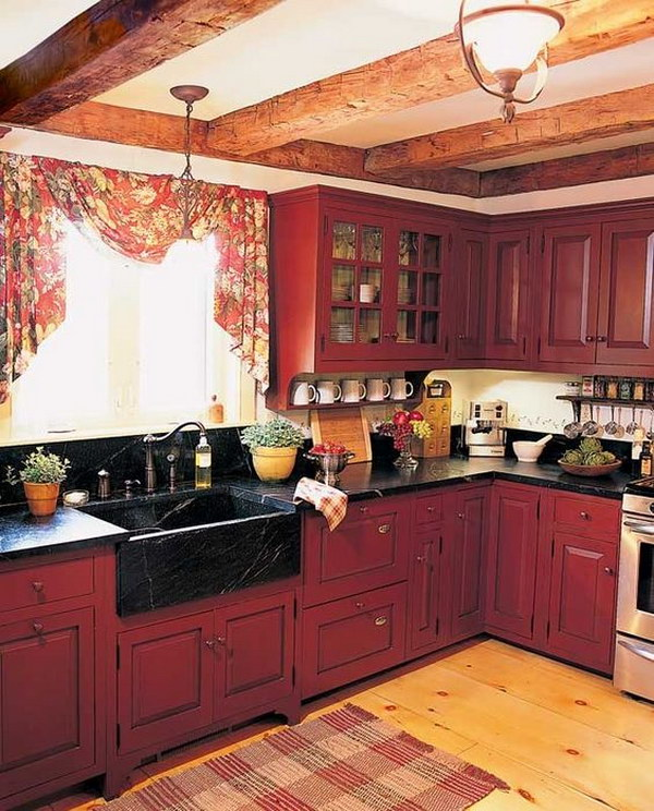 Wood Cabinet Colors Kitchen: 80+ Cool Kitchen Cabinet Paint Color Ideas