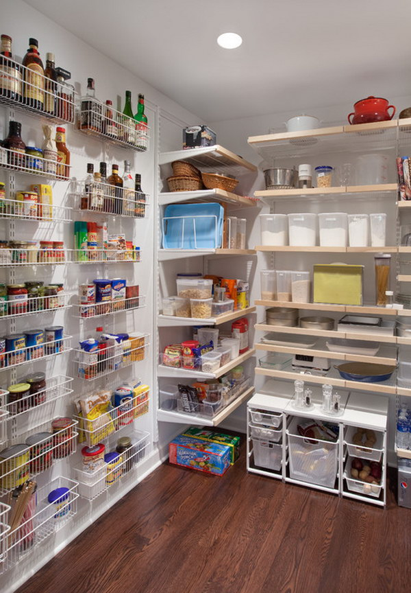 Inexpensive Organizing with Closetmaid Wire Racks and Shelves Mounting Bracket System.