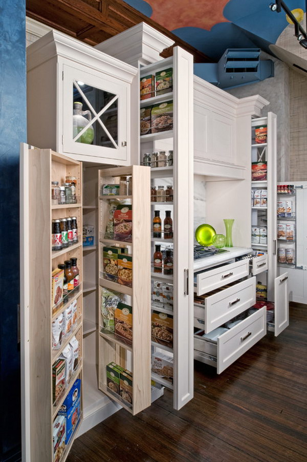 Pantry with Recessed panel Cabinets.