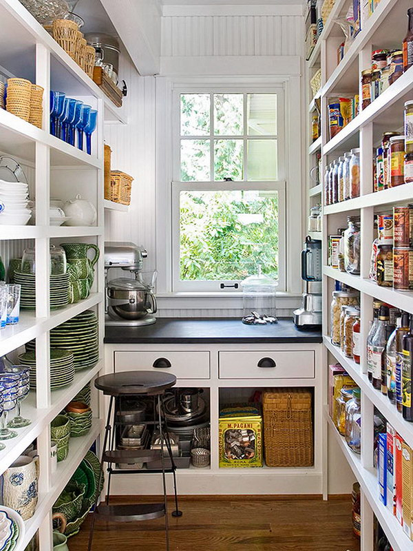 Pantry Shelving and Soapstone Countertop.