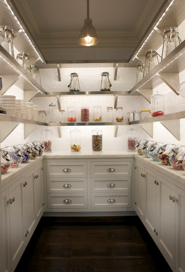 Stainless Steel Shelves Butlers Pantry.