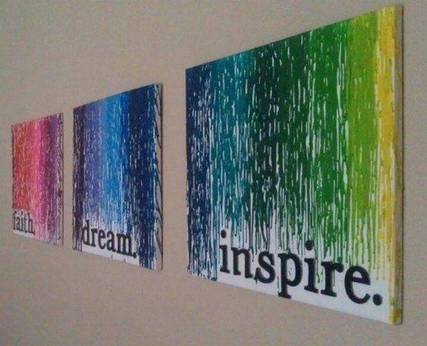 Quotes Melted Crayon Art.