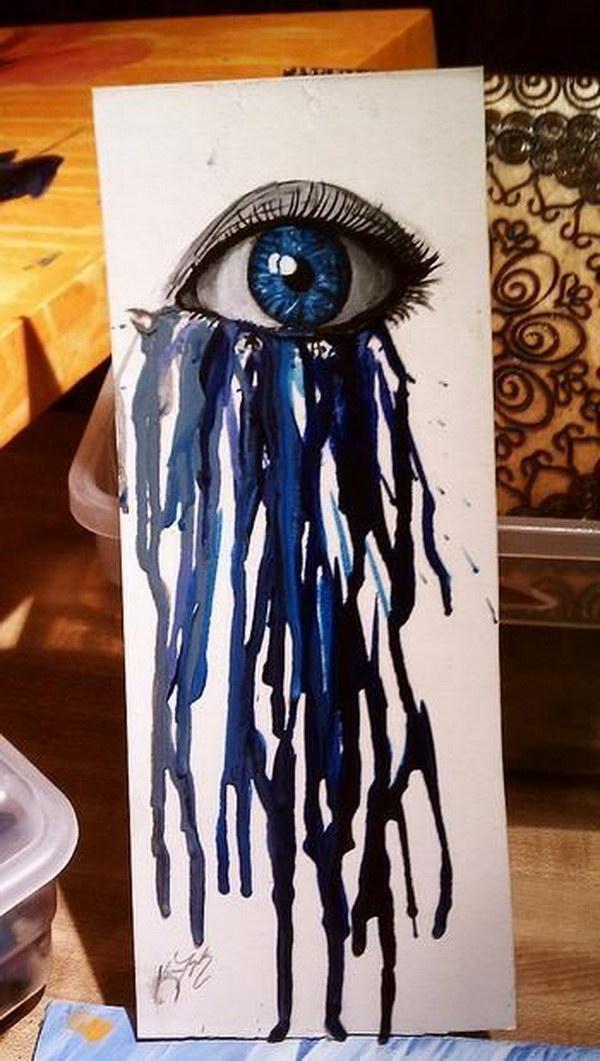 Stunning Melted Crayon Eye.