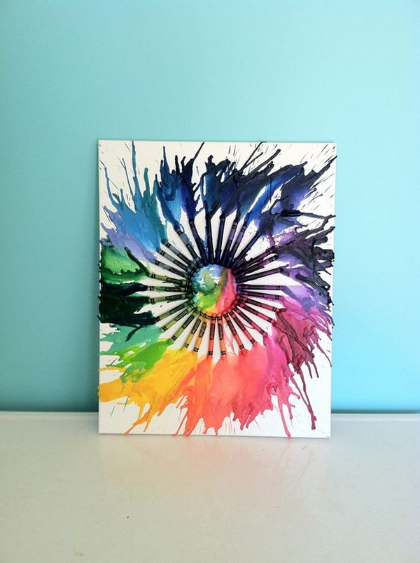 Fun And Budget Friendly Melted Crayon Art Ideas Noted List