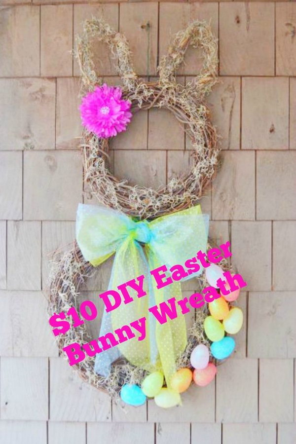 DIY Easter Bunny Wreath for $10