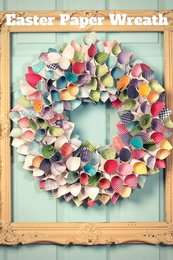 DIY Easter and Spring Paper Wreath