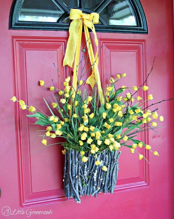 DIY Branch Basket Wreath