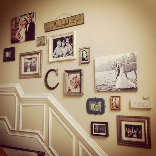 Vintage Staircase Gallery Wall.
