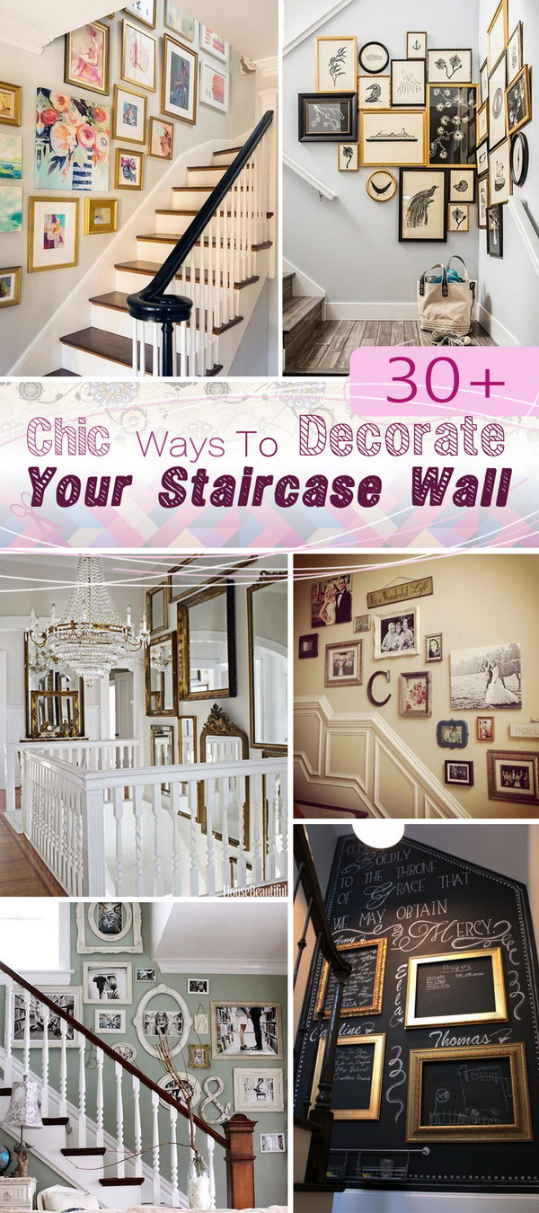 Chic Ways To Decorate Your Staircase Wall!