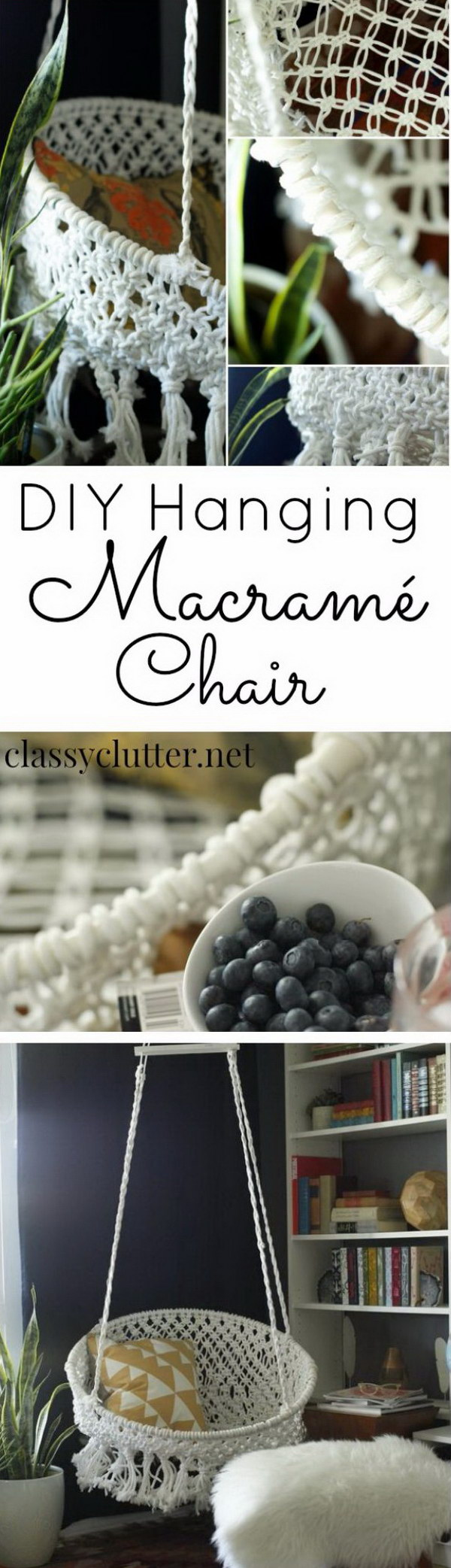 DIY Hanging Macrame Chair