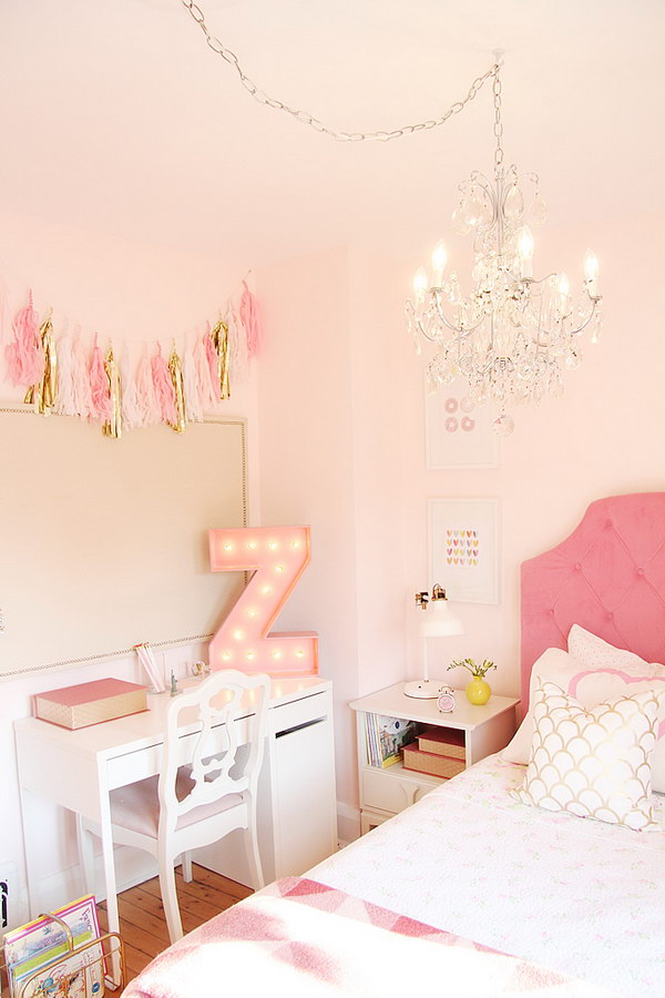 Rustic Neon Teen Bedroom Ideas