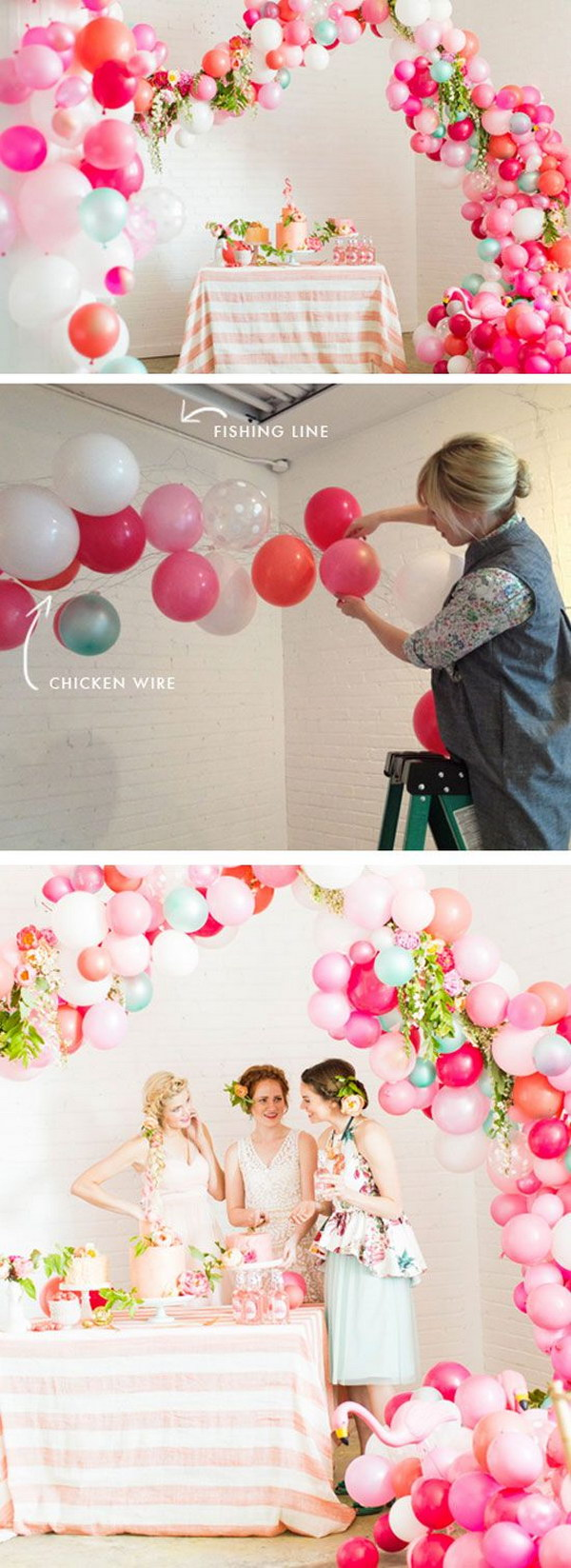 Whimsical Balloon Arch with Tutorials.