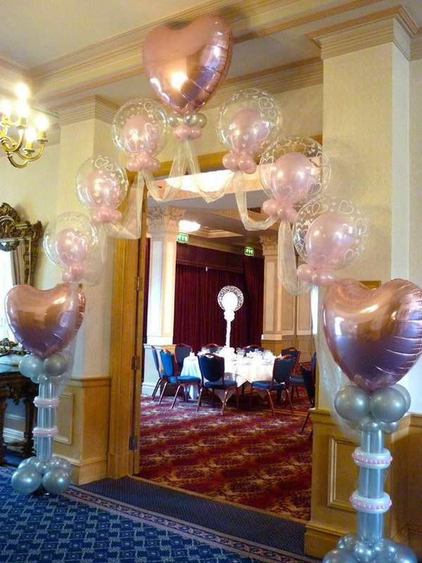 Heart Balloon Wedding Arch.