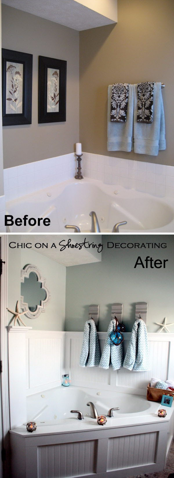 Beachy Bathroom Makeover.